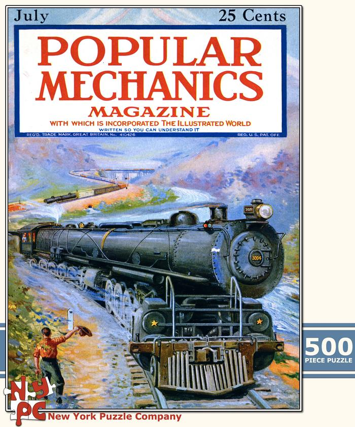 Popular Mechanics - Mountain Train Magazines and Newspapers Jigsaw Puzzle