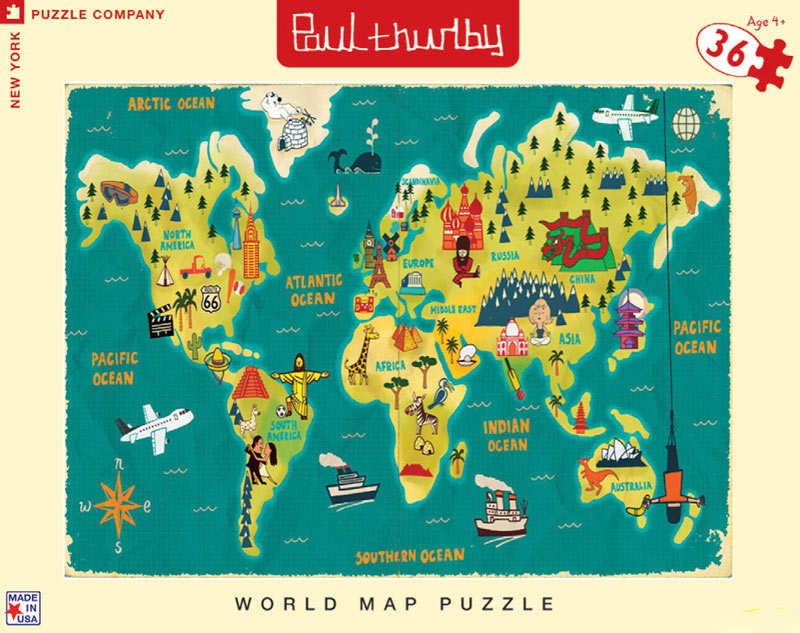 World Map Cartoons Jigsaw Puzzle