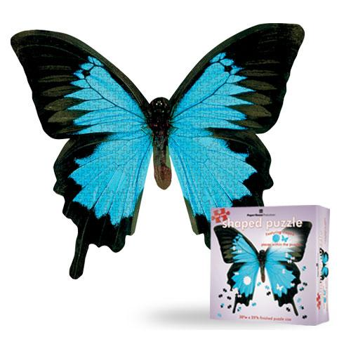 Mountain Blue Butterfly Butterflies and Insects Jigsaw Puzzle