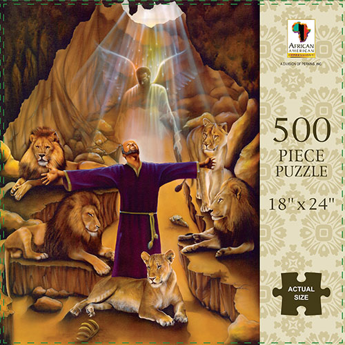 Daniel (In the Lions Den) African American Jigsaw Puzzle
