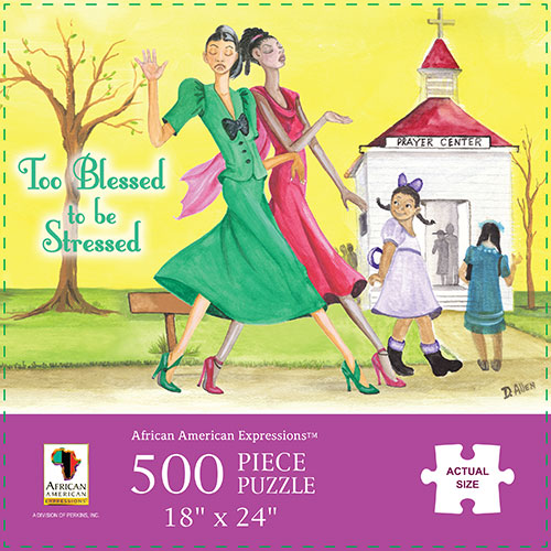 Too Blessed To Be Stressed African American Jigsaw Puzzle