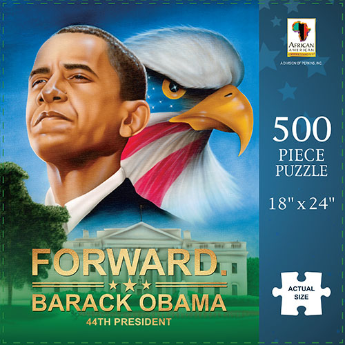 Barack Obama: Forward African American Jigsaw Puzzle