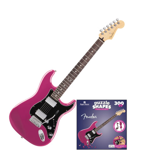 Fender Pink Guitar Music Jigsaw Puzzle