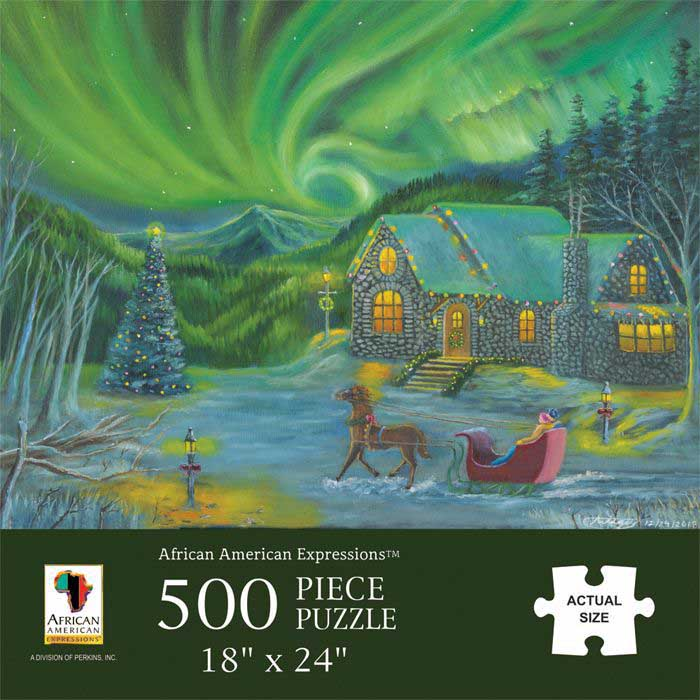 Northern Lights Winter Jigsaw Puzzle