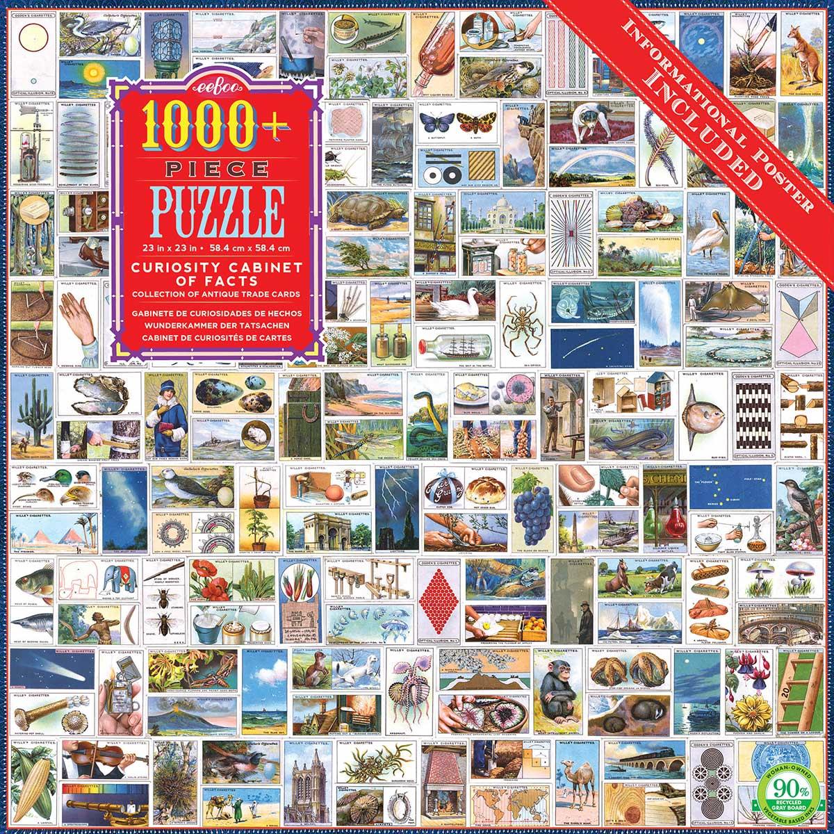 Curiosity Cabinet of Facts Nostalgic / Retro Jigsaw Puzzle