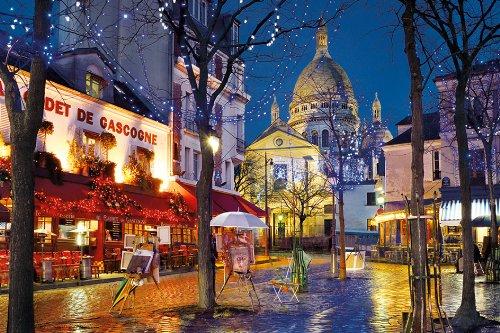 Paris - Montmartre Street Scene Jigsaw Puzzle