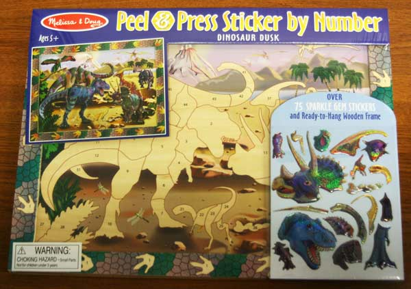Peel and Press - Dinosaur Dusk Dinosaurs Glitter / Shimmer / Foil Puzzles