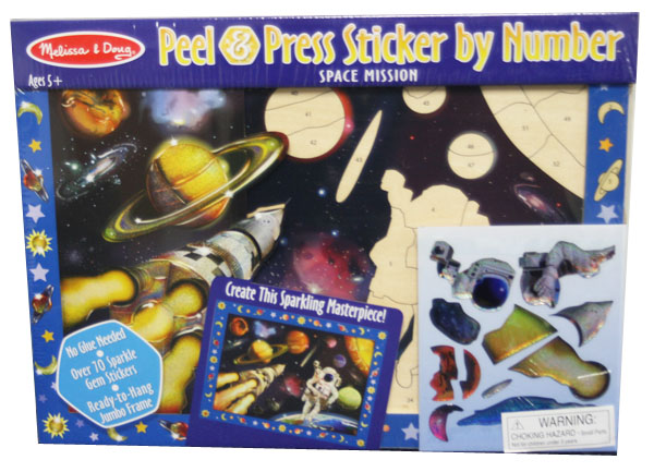 Peel and Press - Space Mission Space Activity Books and Stickers