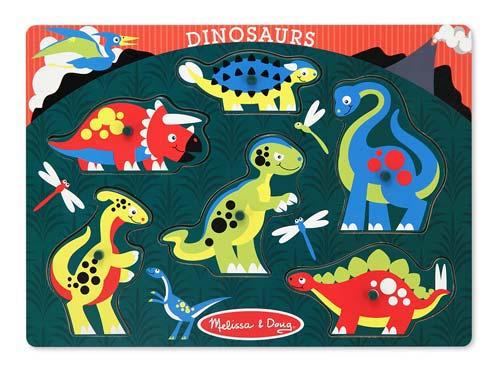 Peg Puzzle - Dinosaurs Dinosaurs Children's Puzzles