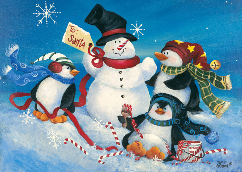 Penguins Playtime Christmas Jigsaw Puzzle