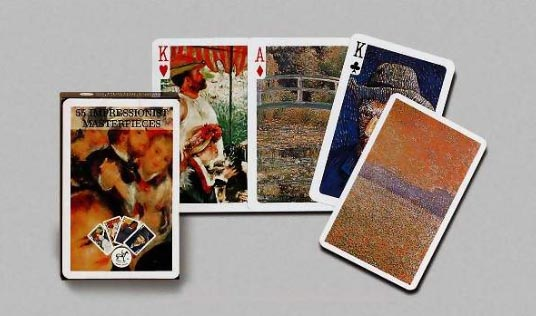 55 Impressionist Masterpieces, Single Deck Playing Cards