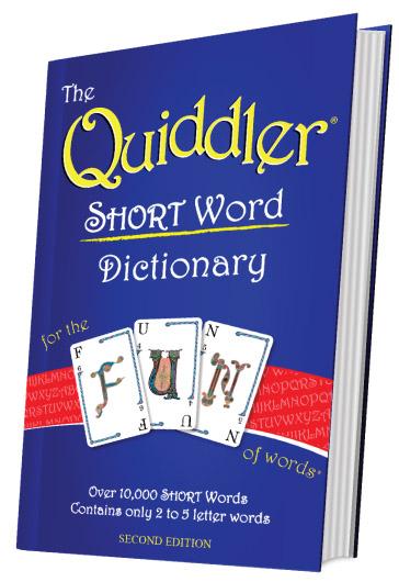 Quiddler Short Word Dictionary
