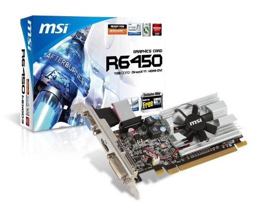 MSI ATI Radeon HD6450 1GB DDR3 VGA/DVI/HDMI Low Profile PCI-Express Video Card