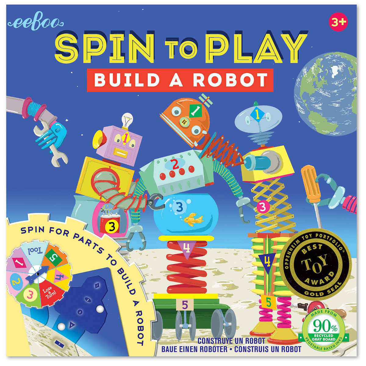 Build A Robot Spinner Puzzle Game Robots Children's Puzzles