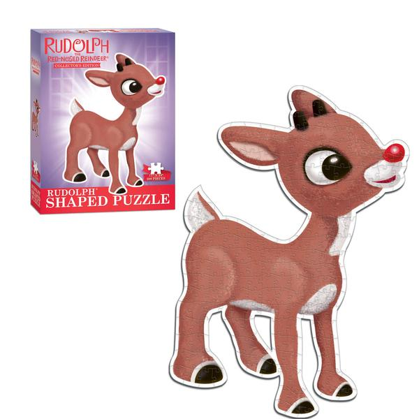 Rudolph The Red-Nosed Reindeer Shaped Collectors Puzzle Christmas Children's Puzzles