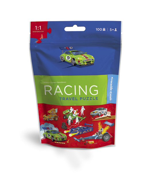 Travel Pouch Racing Cars Jigsaw Puzzle
