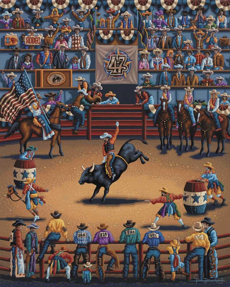 Rodeo Days Americana & Folk Art Jigsaw Puzzle