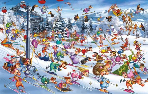Christmas Skiing Winter Jigsaw Puzzle