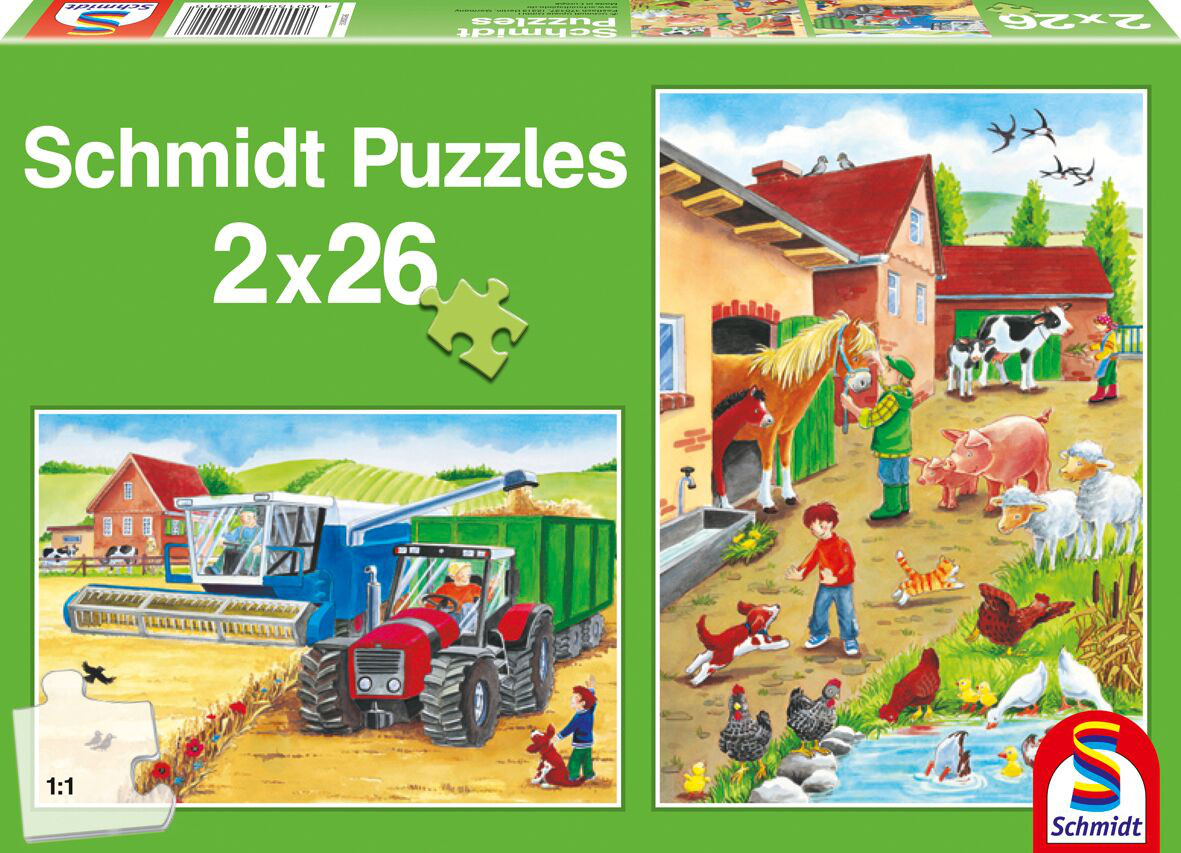 On the Farm Cartoons Children's Puzzles