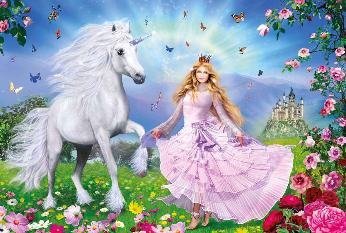 The Unicorn Princess Castles Jigsaw Puzzle