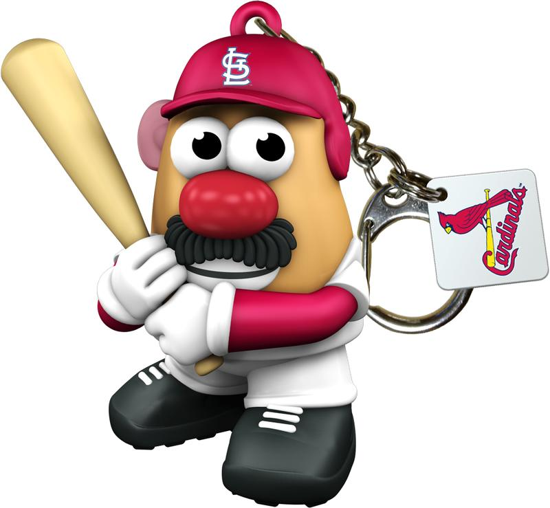 St. Louis Cardinals Mr. Potato Head Key Chain Baseball