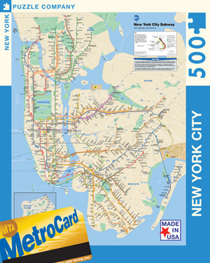 NYC Subway Maps / Geography Jigsaw Puzzle