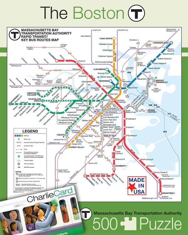 The Boston T (Transit Maps) Maps / Geography Jigsaw Puzzle