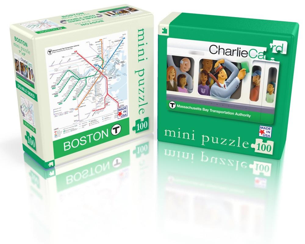 Boston T (Mini) Maps / Geography Jigsaw Puzzle