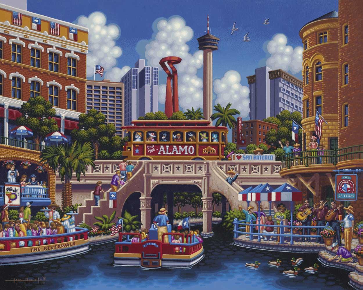 San Antonio Boats Jigsaw Puzzle