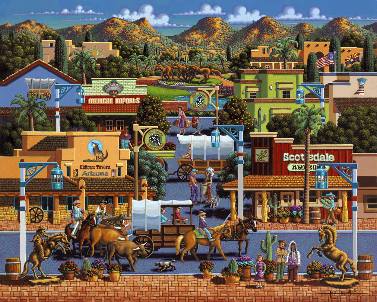 Scottsdale Americana & Folk Art Jigsaw Puzzle