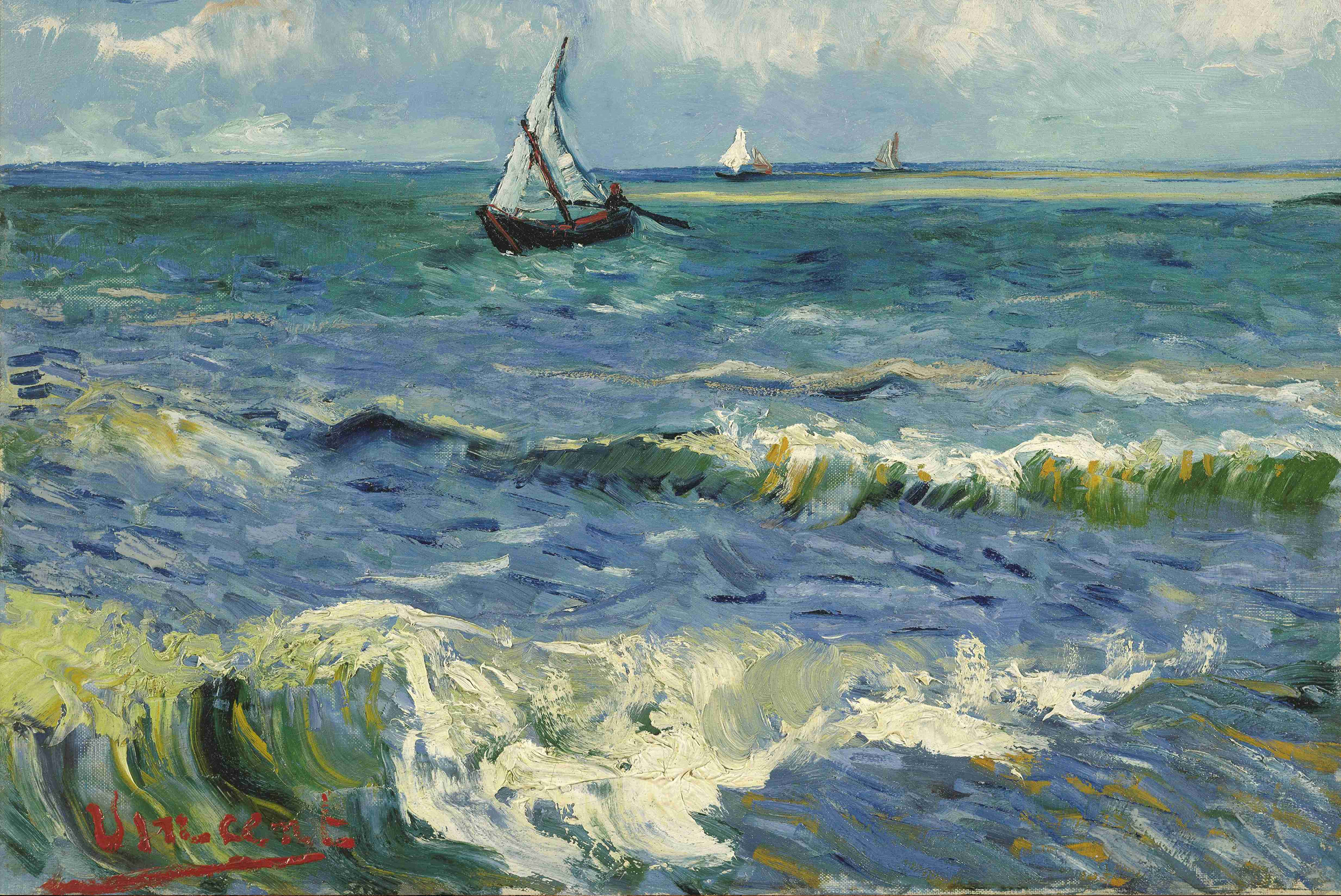 Seascape by Van Gogh Fine Art