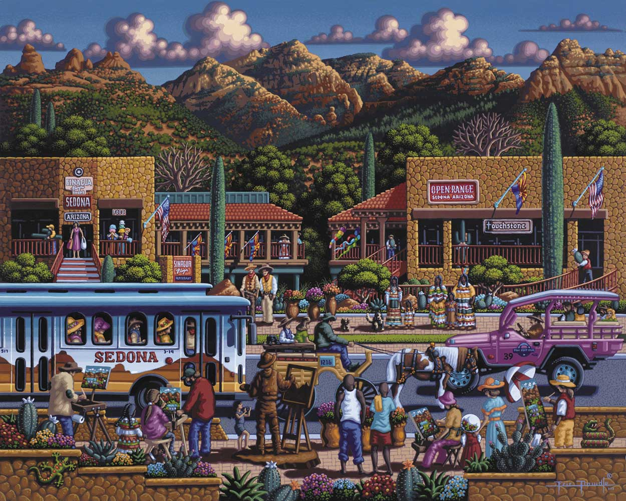 Sedona Americana & Folk Art Jigsaw Puzzle