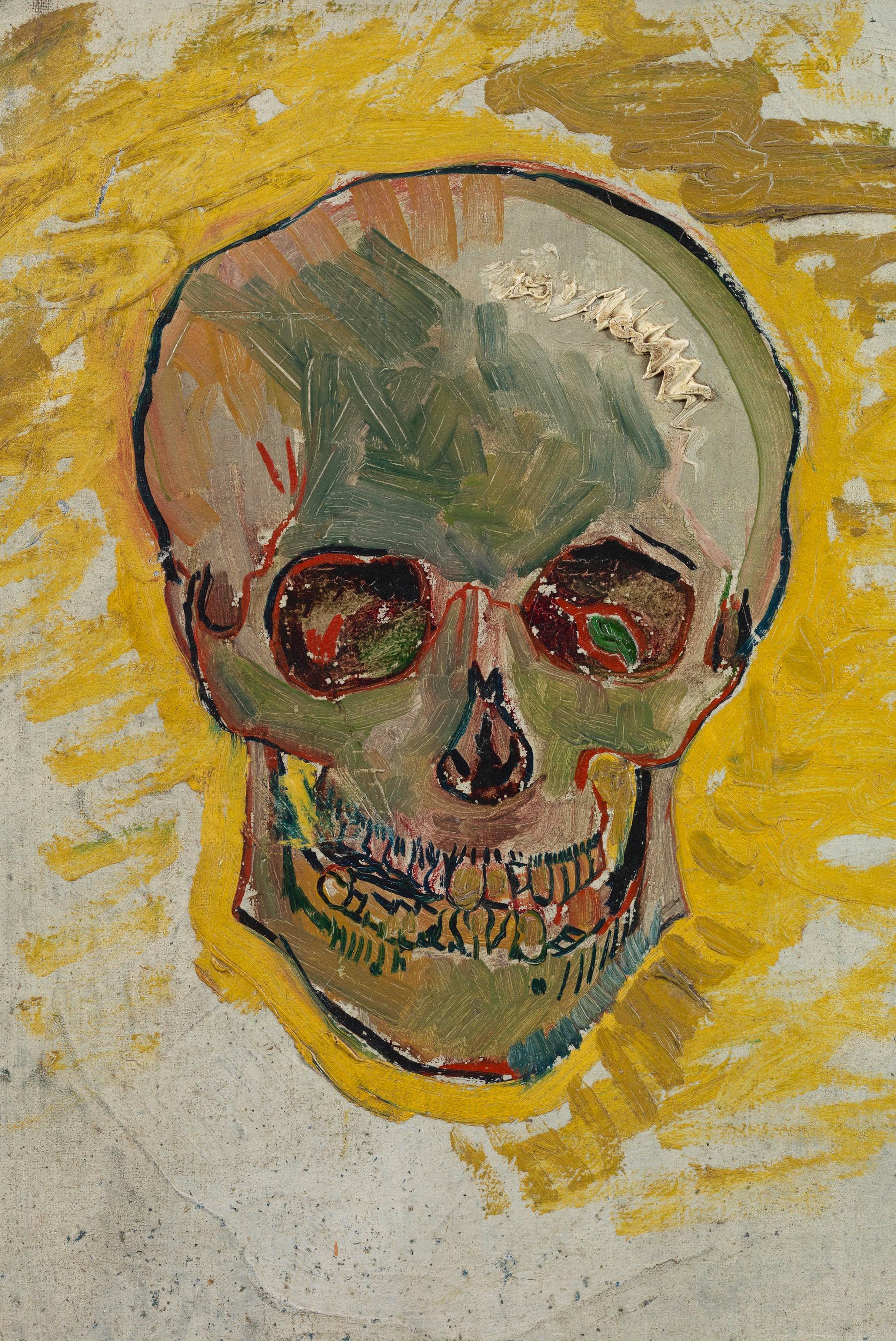 Skull by Van Gogh Fine Art