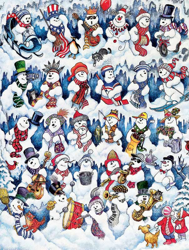 Snowfolks Christmas Children's Puzzles
