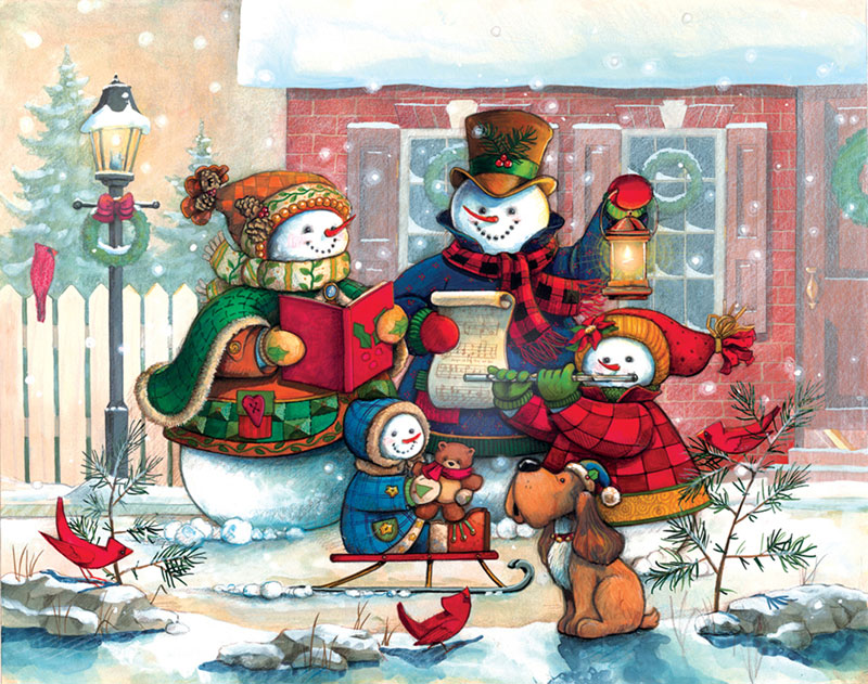 Song For The Season Christmas Jigsaw Puzzle