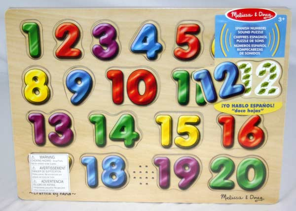 Sound Puzzle - Spanish Numbers Educational Children's Puzzles