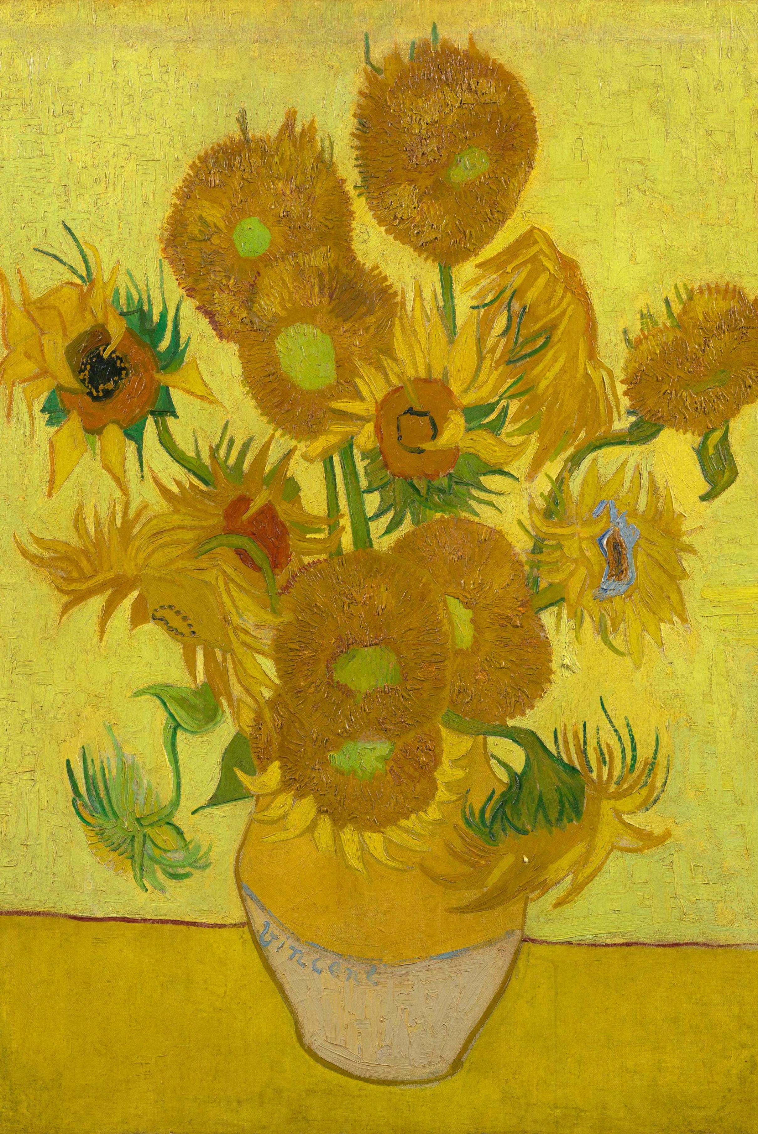 Sunflowers by Van Gogh Fine Art
