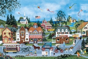 The Life Of Riley - Scratch and Dent Americana & Folk Art Jigsaw Puzzle
