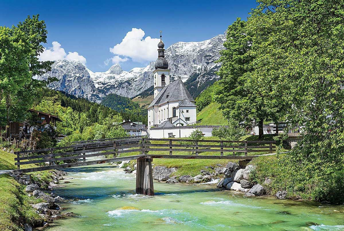 Church in Ramsau, Germany Germany Jigsaw Puzzle