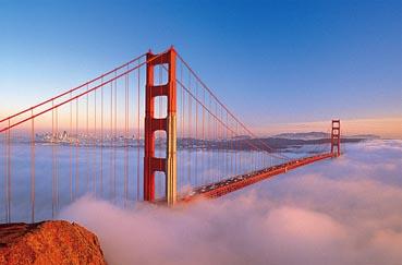 Golden Gate Bridge, San Francisco Landmarks / Monuments Jigsaw Puzzle