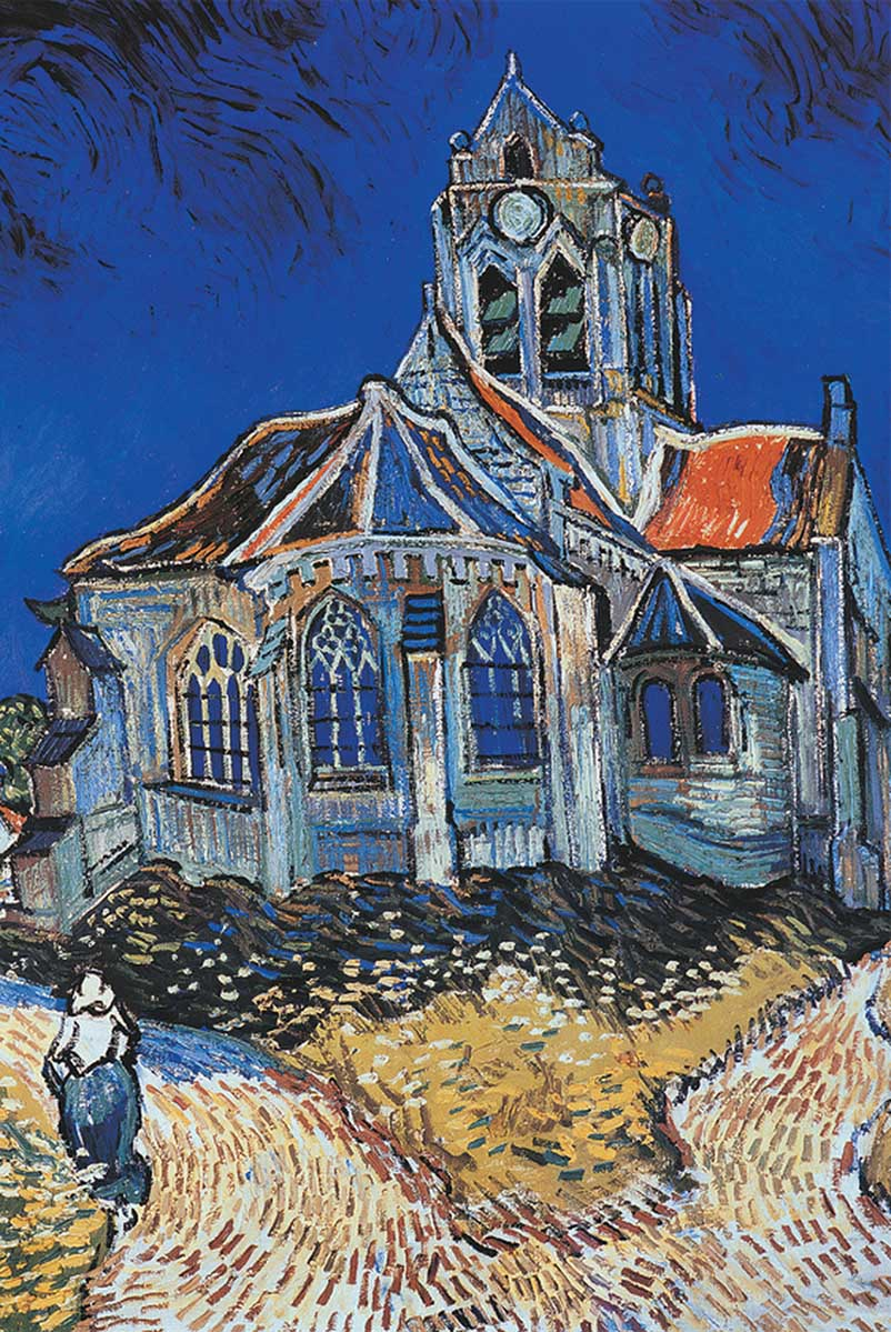 The Church in Auvers Fine Art Jigsaw Puzzle