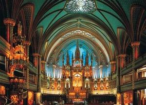 Notre-Dame De Montreal, Canada Landmarks / Monuments Jigsaw Puzzle