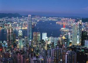 Hong Kong By Night Travel Jigsaw Puzzle
