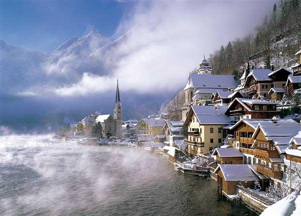 Hallstatt, Austria Mountains Jigsaw Puzzle