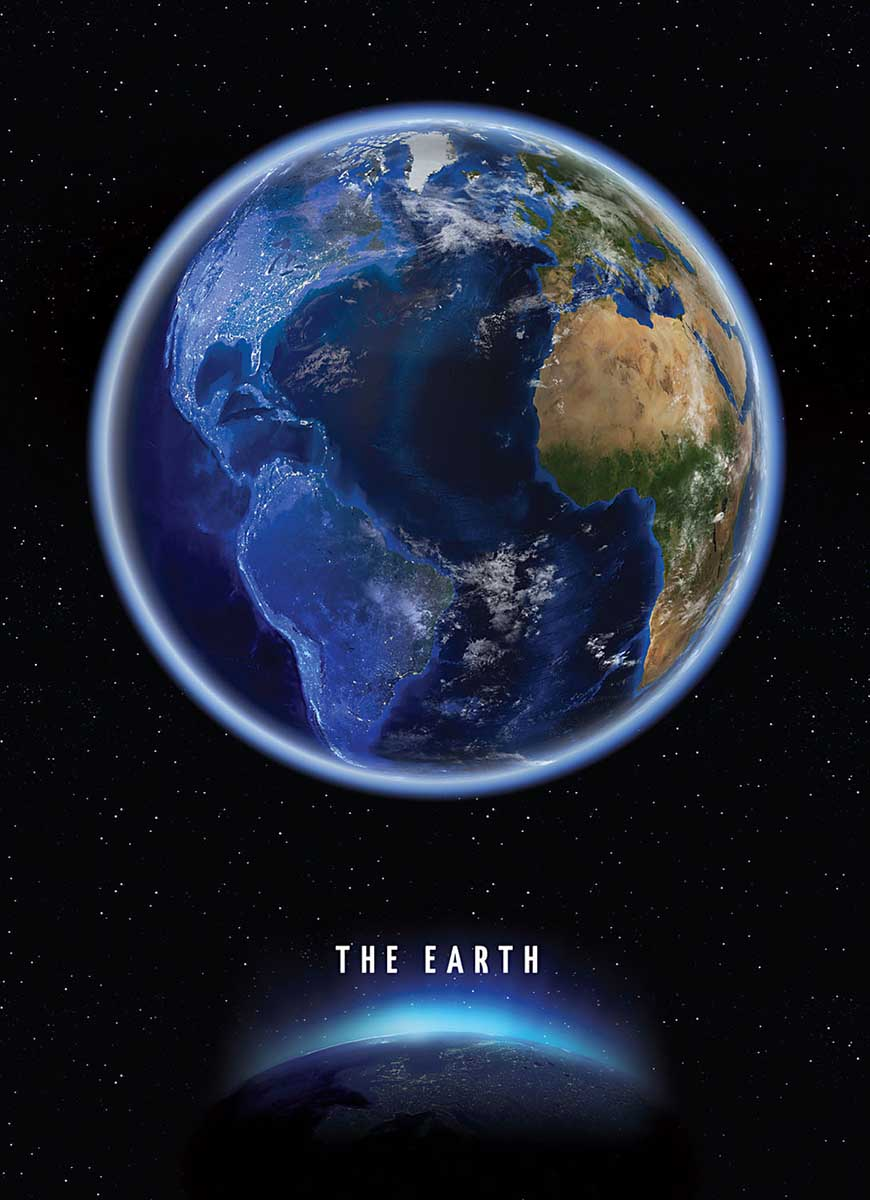 The Earth Space Glow in the Dark Puzzle