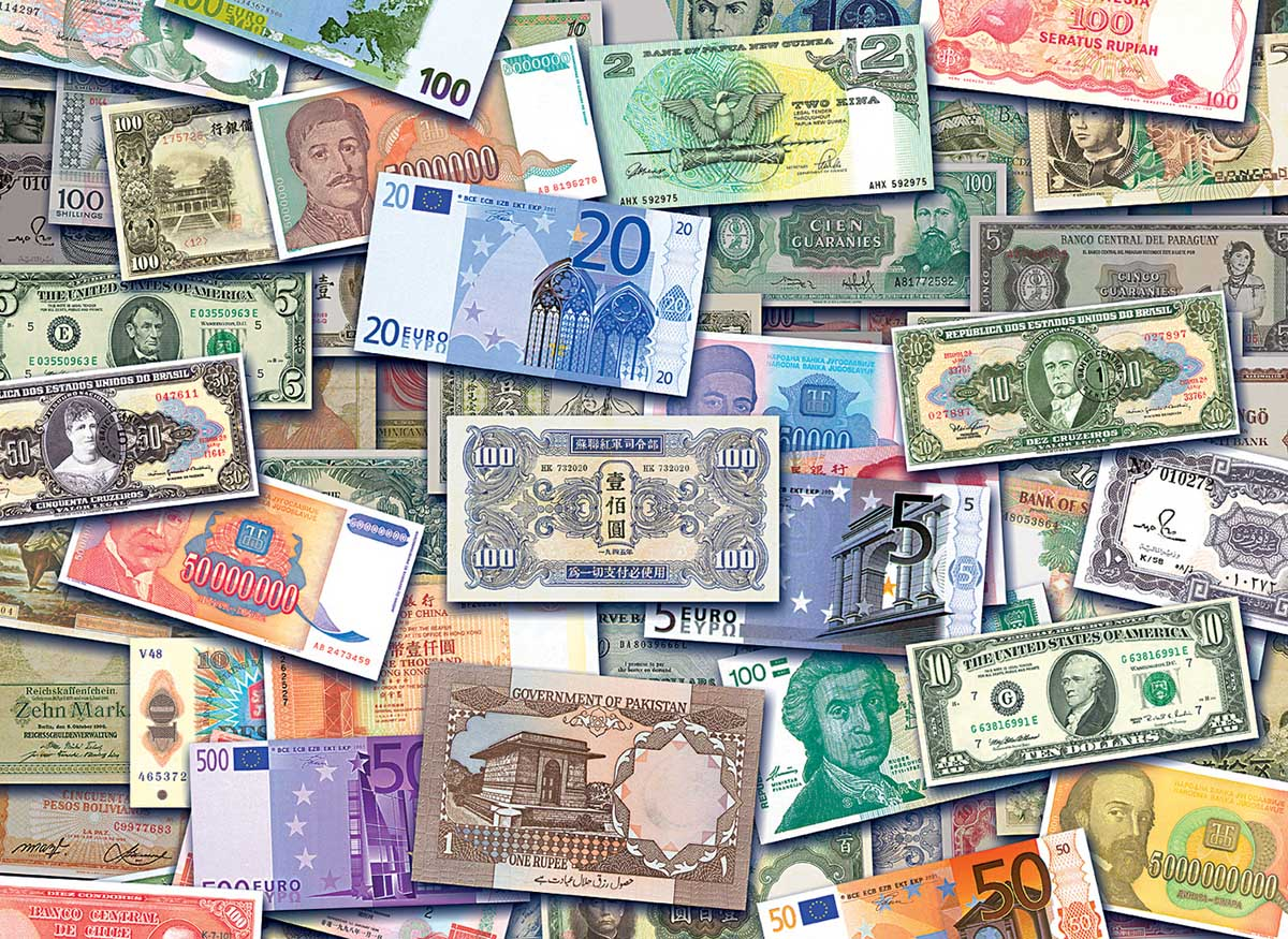 Currency Notes Collage Jigsaw Puzzle
