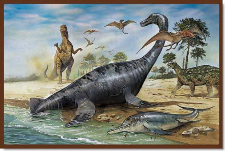 Land of Dinosaurs - 1 Dinosaurs Jigsaw Puzzle