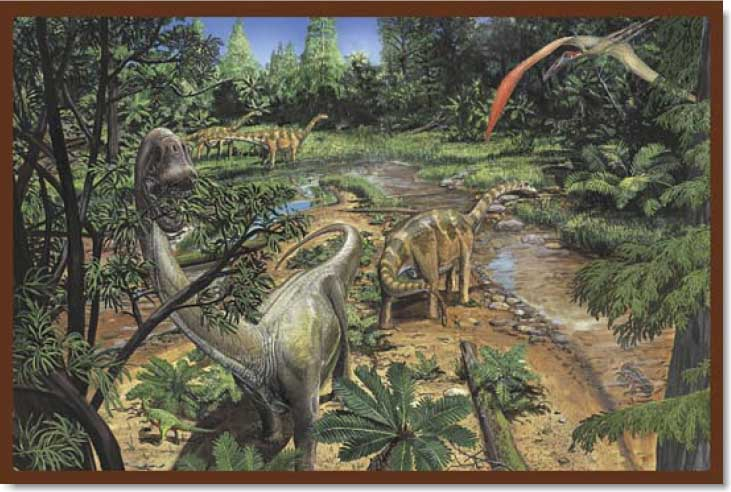 Land of Dinosaurs - 2 Dinosaurs Jigsaw Puzzle
