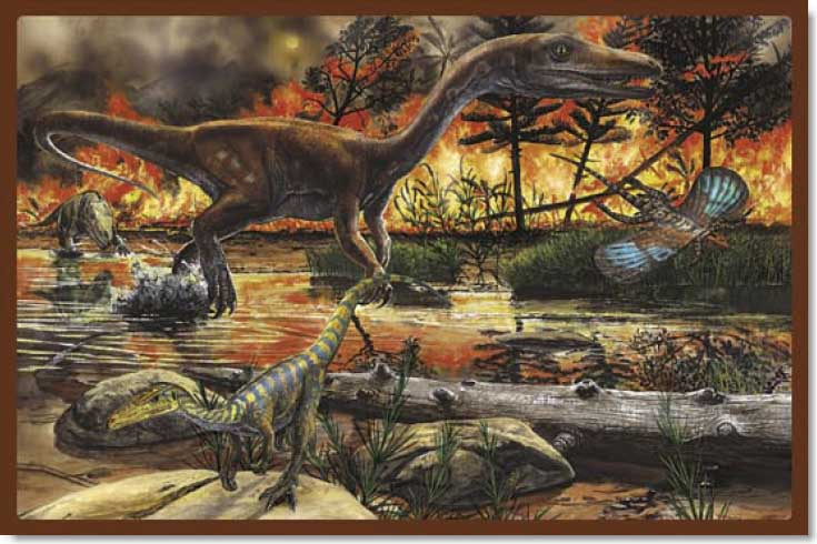 Land of Dinosaurs - 4 Dinosaurs Jigsaw Puzzle