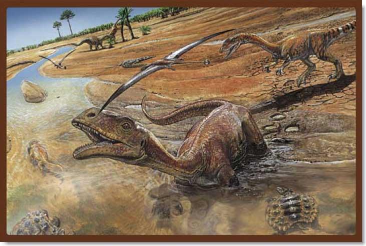 Land of Dinosaurs - 5 Dinosaurs Jigsaw Puzzle